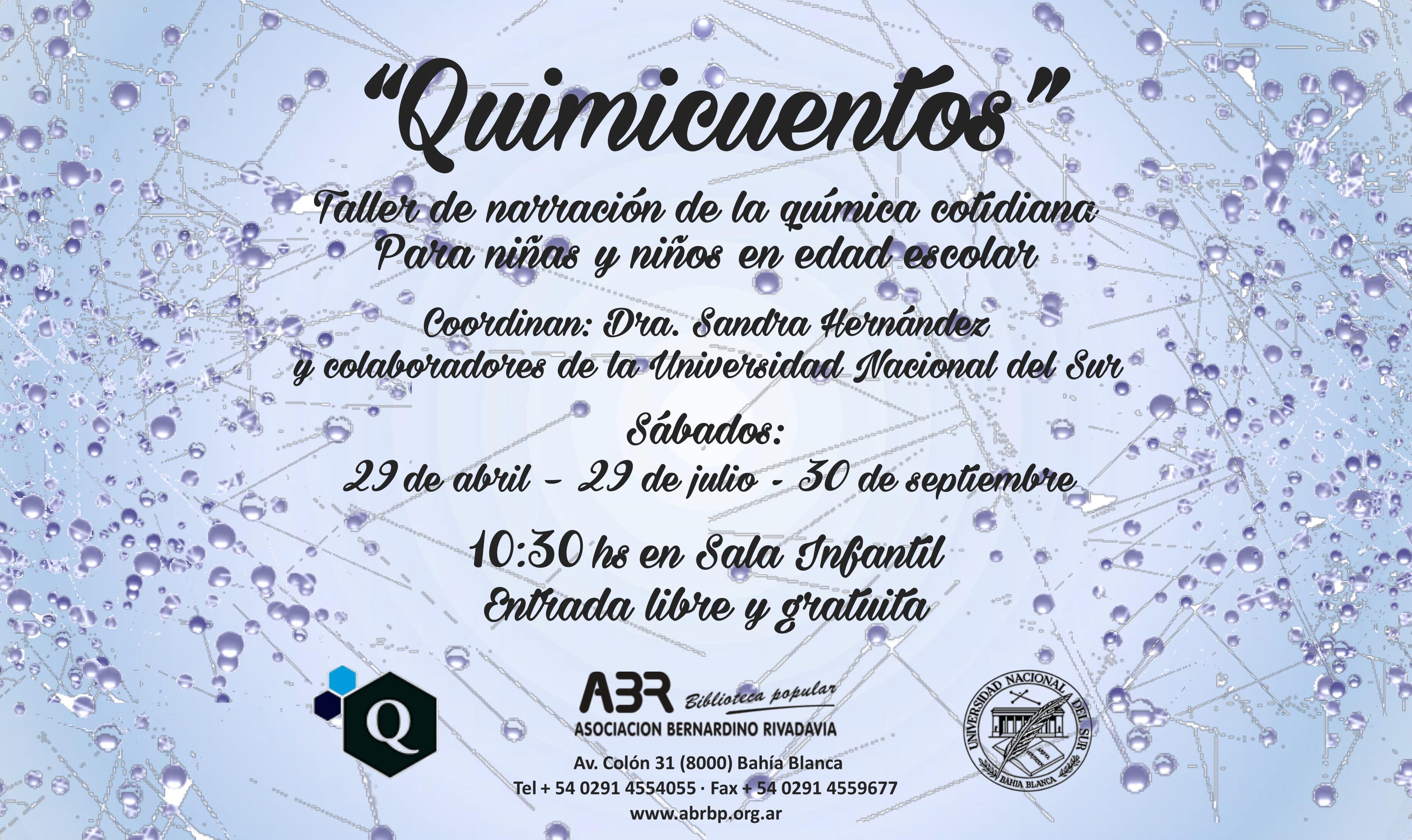 Flyer Quimicuentos 2017