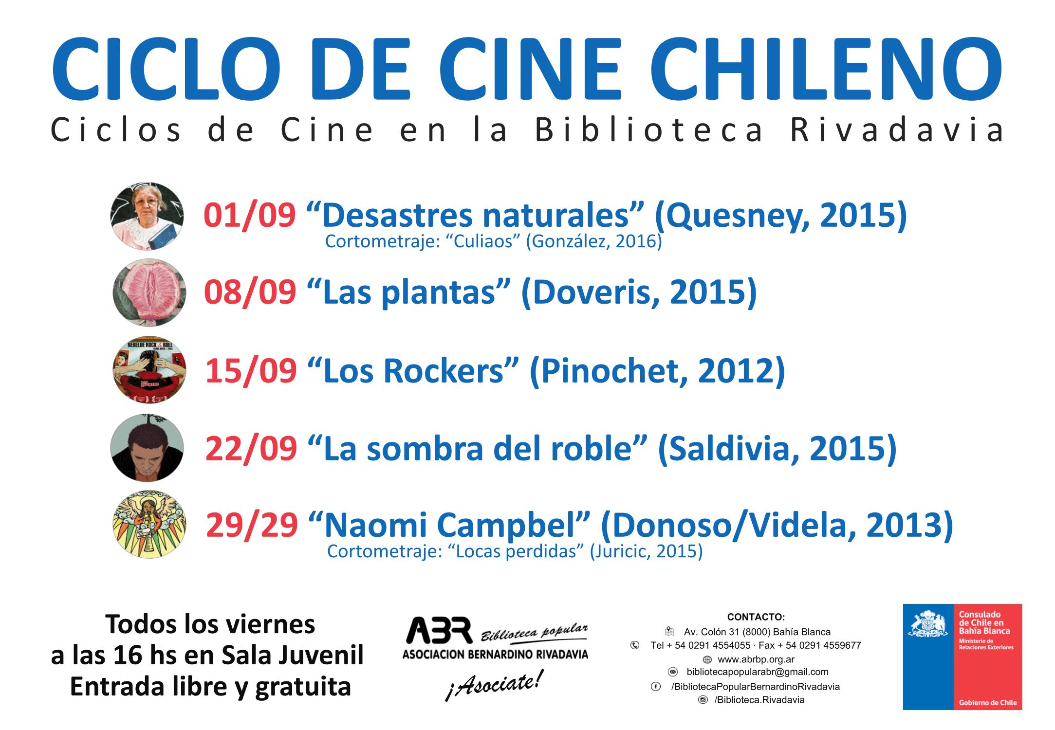 Ciclo de Cine Chileno - A4 - circ