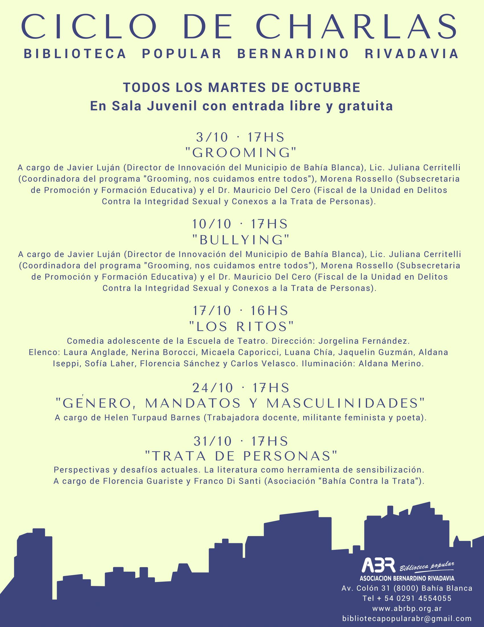 Flyer Charlas Octubre